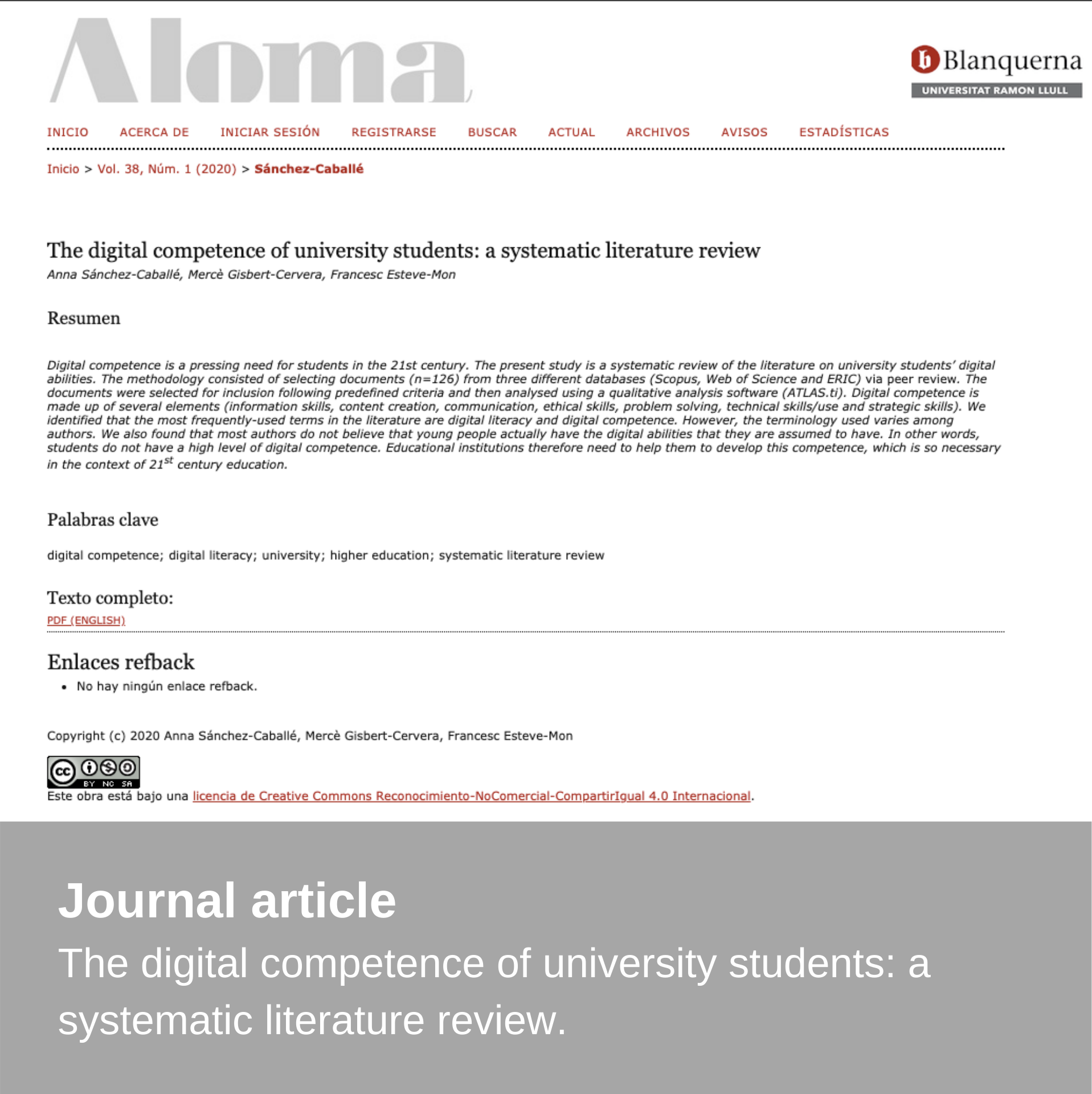 New publication – Aloma