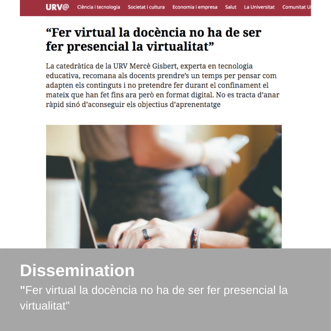 Dissemination – Interview Journal URV Digital