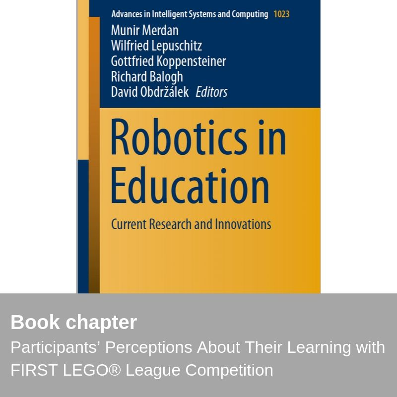 New publication - Participants' Perceptions About Their Learning with FIRST LEGO® League Competition