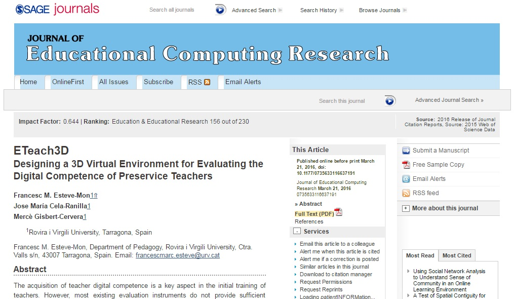 ETeach3D: Designing a 3D virtual environment for evaluating the digital competence of preservice teachers