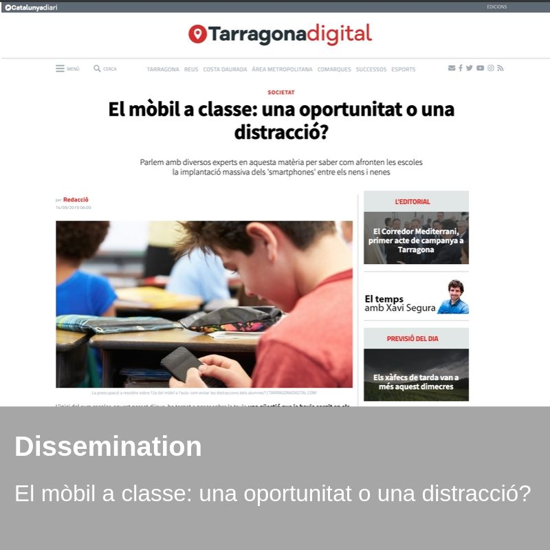 Dissemination - The mobile in class: an opportunity or a distraction?